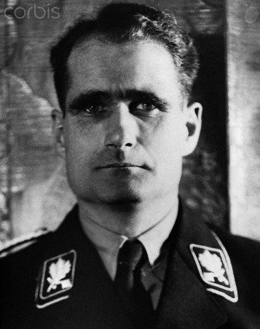 ca. 1939, Germany --- Nazi official Rudolph Hess in 1939. --- Image by © Hulton-Deutsch Collection/CORBIS